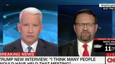Anderson Cooper and Sebastian Gorka.