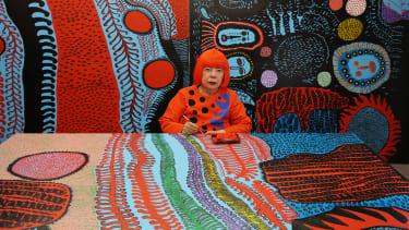 Yayoi Kusama in her studio.