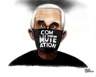 Political Cartoon U.S. Roger Stone Trump commutation
