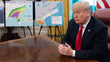 Trump speaks about Hurricane Michael