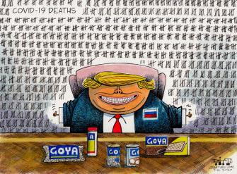 Political Cartoon U.S. Trump Goya