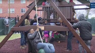 Malia and Sasha Obama's playground will be put to good use.