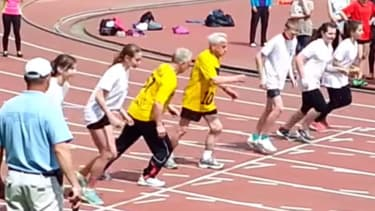 104-year-old man sets European record as oldest person to complete 100-meter 'dash'
