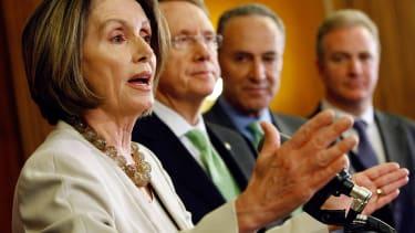 Nancy Pelosi, Harry Reid, and Chuck Schumer