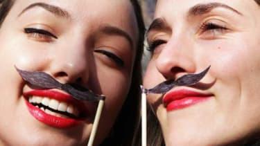 Weird mustache