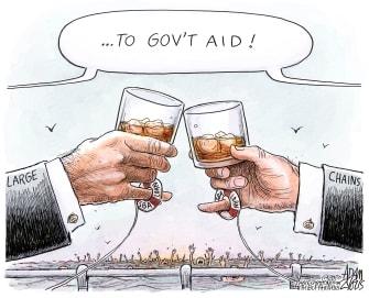 Editorial Cartoon U.S. PPP coronavirus small business
