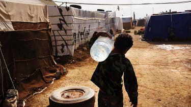 Syrian forces bombed a water supply.