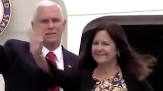Mike Pence goes couch-surfing