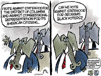 Political Cartoon U.S. gop dc statehood voter restrictions
