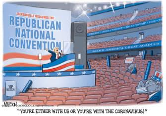 Editorial Cartoon U.S. Trump GOP convention coronavirus