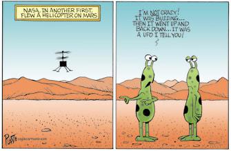 Editorial Cartoon U.S. nasa ingenuity mars