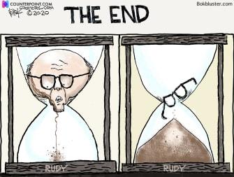 Political Cartoon U.S. Giuliani lawsuits hair dye