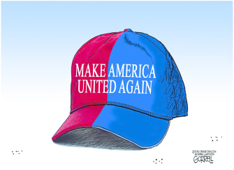 Political Cartoon U.S. Biden united america