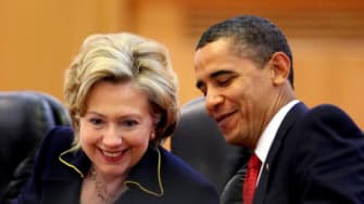 Hillary Clinton and President Obama in 2009.