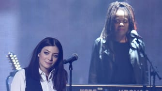 Lorde performs at the 2016 BRIT Awards