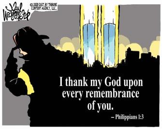 Editorial Cartoon U.S. September 11 first responders