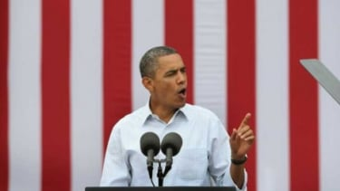 President Obama speaks in Iowa on Aug. 15: A few days later, in New Hampshire, the president charged that Paul Ryan would slash Mitt Romney's tax rate.