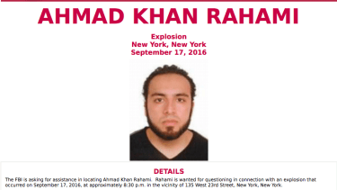 FBI most wanted poster seeks information about Ahmad Khan Rahami