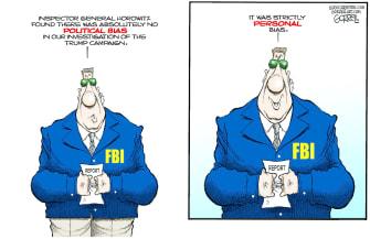 Political Cartoon U.S. Political Bias FBI