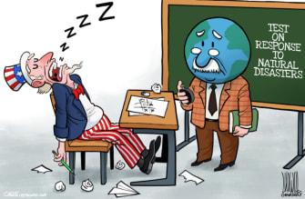 Political Cartoon U.S. emergency preparedness