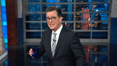 Stephen Colbert on the allegations against Les Moonves, his boss
