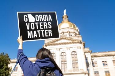 Protesters in Georgia.