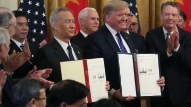 President Trump and Chinese Vice PremierLiuHe.