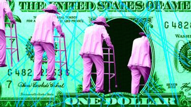 A dollar bill.