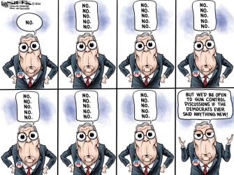 Political Cartoon U.S. mitch mcconnell gun reform