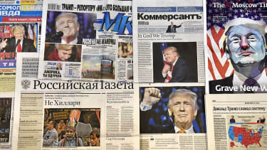 Russian newspapers report that President Trump won the U.S. election.