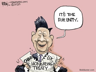 Political Cartoon World Xi Jinping Hong Kong China