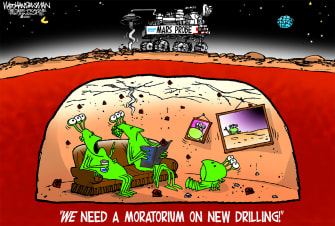 Editorial Cartoon U.S. mars perseverance drilling