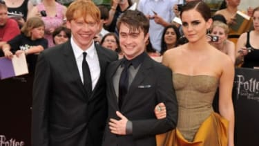 Rupert Grint, Daniel Radcliffe and Emma Watson attend the New York premiere of 'Harry Potter And The Deathly Hallows: Part 2': Some critics say the series' final film deserves a Best Picture