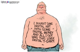 Editorial Cartoon U.S. nft art
