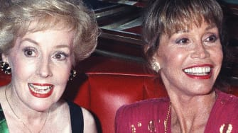 Georgia Engel with Mary Tyler Moore.