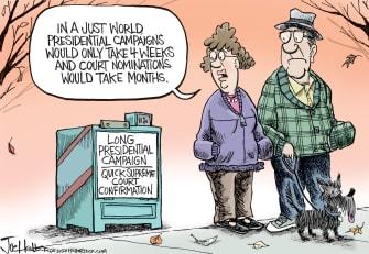 Political Cartoon U.S. elections SCOTUS