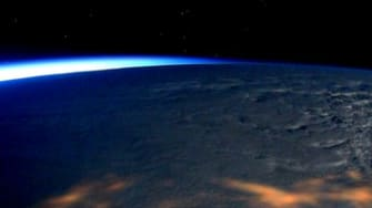 Scott Kelly's view of the snowstorm from the International Space Station