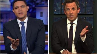 Seth Meyers and Trevor Noah on Bloomberg entering the race