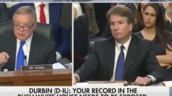 Dick Durbin speaks at Brett Kavanaugh's hearing.