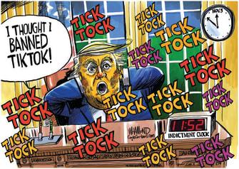 Political Cartoon U.S. Trump TikTok reelection 2020