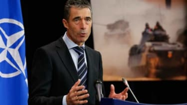NATO Secretary-General Anders Fogh Rasmussen on Dec. 4