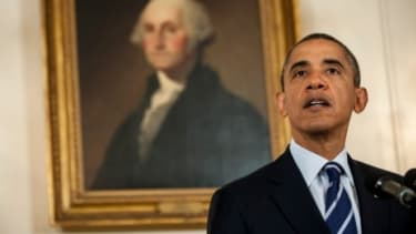 President Obama addresses Hurricane Isaac on Aug. 28.