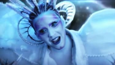 """Katy Perry's psychedelic """"E.T."""" video, a departure from her typically sunny efforts, looks an awful lot like Lady Gaga's """"Born This Way,"""" say critics."""
