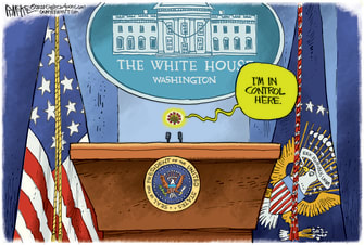 Political Cartoon U.S. Trump COVID White House