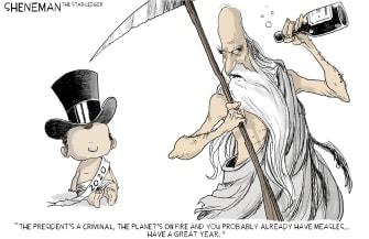Editorial Cartoon World New years problems