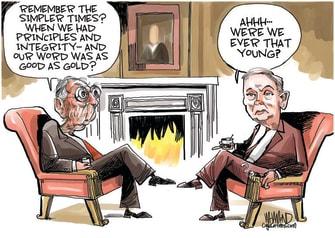 Political Cartoon U.S. McConnell Lindsey Graham SCOTUS Ginsburg