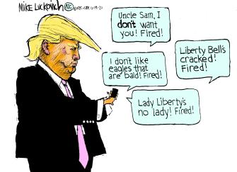 Political Cartoon U.S. Trump tweets election