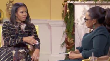 Michelle Obama and Oprah Winfrey.