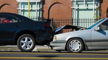 A minor car accident.
