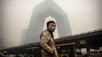 Smog in Beijing.